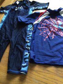 Children's sun safe swim suit
