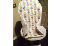 Highchair with brand new seat cover