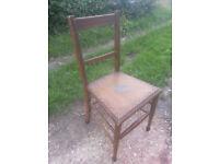 Upcycled, hardwood chair.