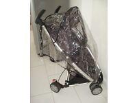 Quinny Zapp Stroller buggy pram With Rain cover, in Black
