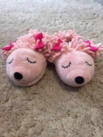 M & S girls slippers size 7