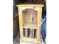 pine hifi cabinet