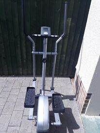 Cross Trainer - excellent condition. Resistor & electronic pad for measuring distance, calories etc