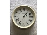 Large cream Newgate Wall clock