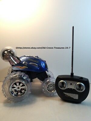 Thunder Tumbler Remote Control Blue 360 Degree Blue Rally Car Gift