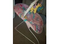 Mothercare baby bouncer chair - pink - excellent condition