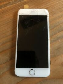 iPhone 6s rose gold (EE) cracked screen 16gb