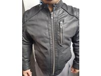 River Island 100% leather biker jacket