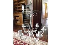 Antique look cream chandelier