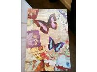 Butterfly picture canvas