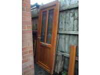 Composite exterior door