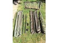 CARP FISHING: Evolution tackle 42 inch NSR system net, sling, retainer. Carp luggage, tackle