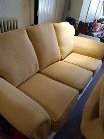 2 & 3 Seater Sofa with Footstool for sale