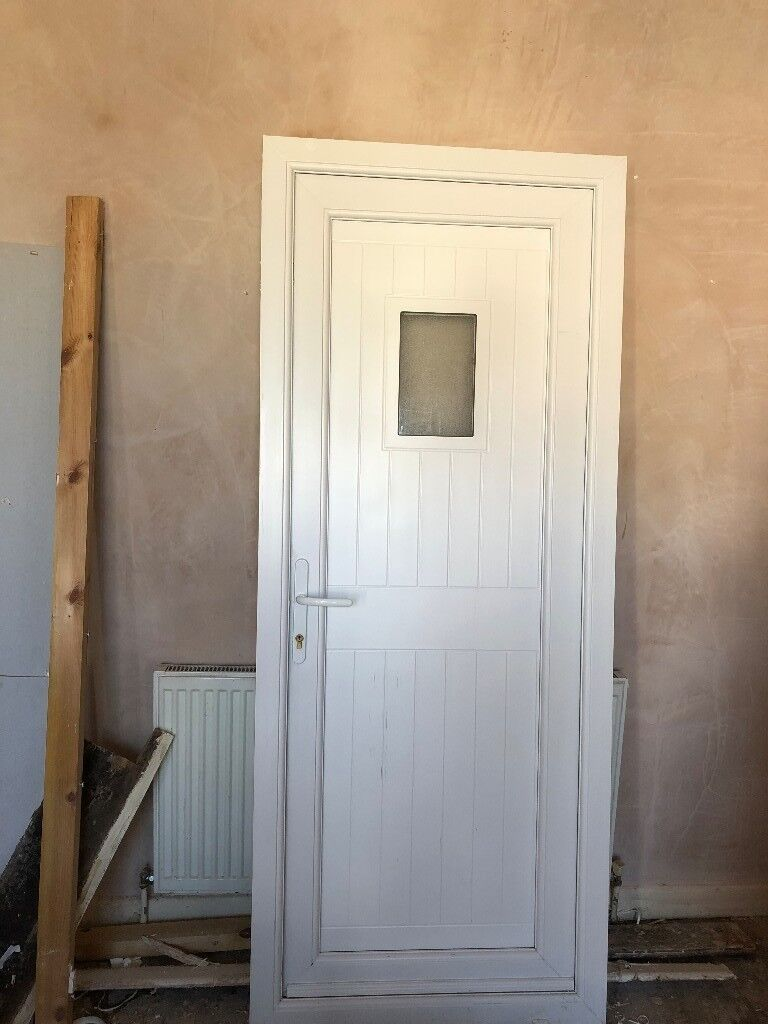 Almost new white PVc Door and Frame | in Levenshulme, Manchester ...