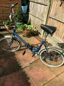 Foldaway bike. Reduced