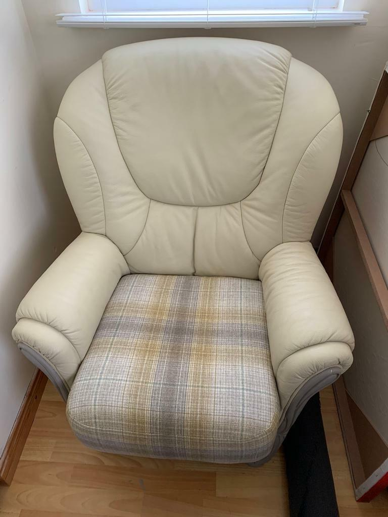 Lovely quality cream leather armchair | in Lisburn Road ...