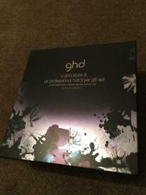 GHD v gold styler professional hair care gift set - brand new -