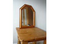 Pine framed mirror - small