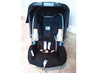 Britax baby safe plus SHR car seat, sun canopy & rain cover