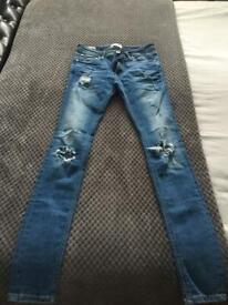 Jack & Jones blue spray on jeans