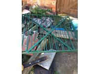 Pair of steel gates 4ft by 4ft