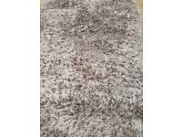 Dunelm divine grey large rug 160x230