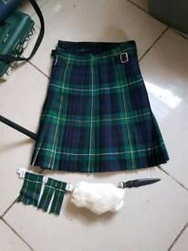 Kilt durable for large boy or small man size 32 comes boxed