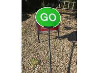 Traffic Management Stop Go sign