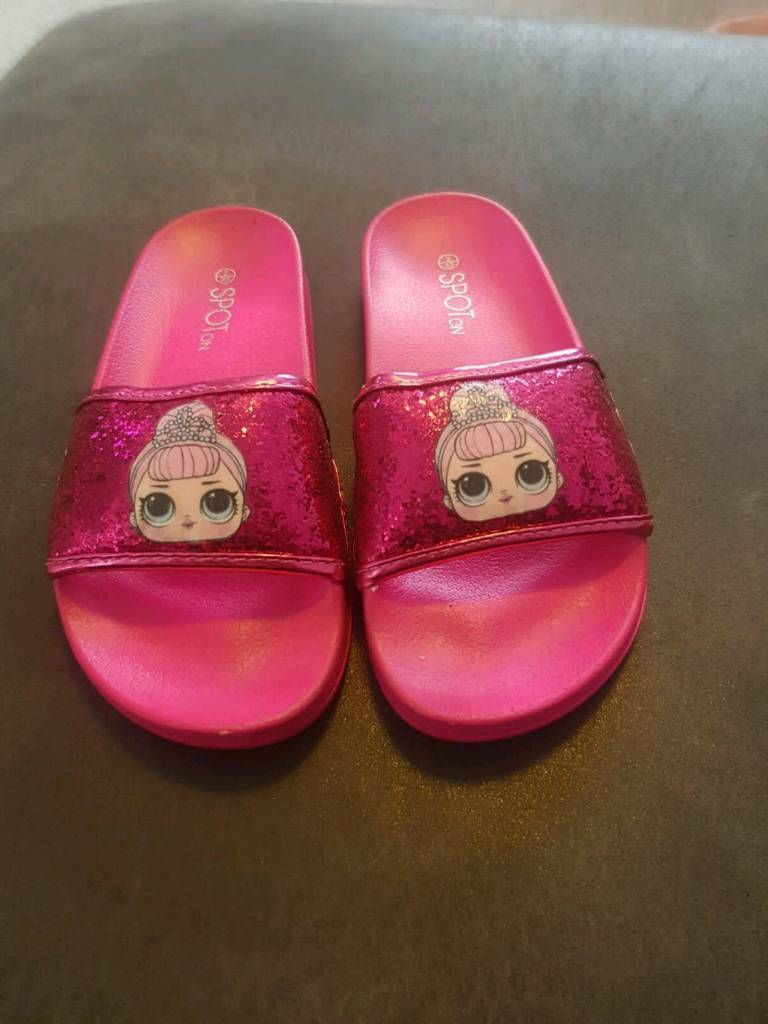 Lol Surprise Shoes Pink Glitter Sliders In Bacup