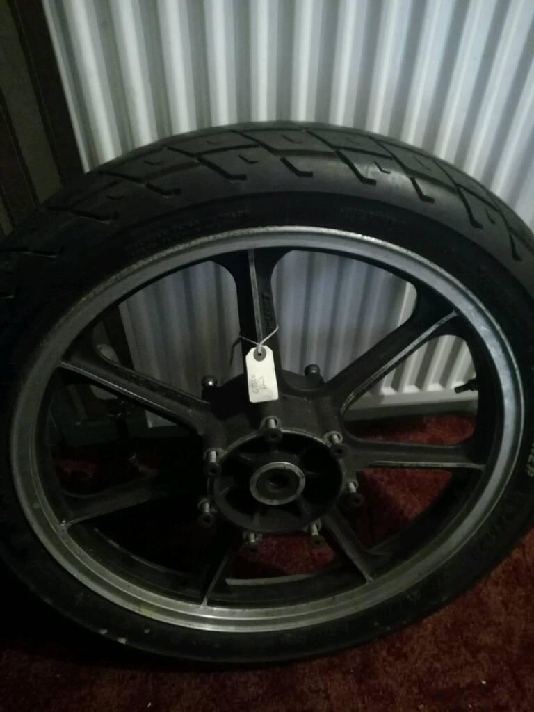 Gt550 front wheel and tyre kawasaki