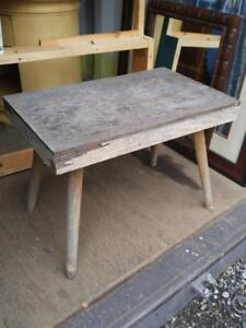 OAKVILLE Rustic Table Cottage Country Vintage Rough Wood Old Shabby Chic Unpainted Garden Feature Weathered