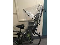 Child bike seat with cover