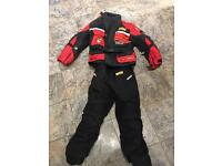 Kids textile motor bike 2 piece and boots