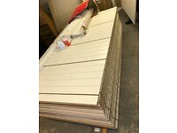 Slatwall Panels - Portrait - White Inserts - Like New - 2400 x 1200