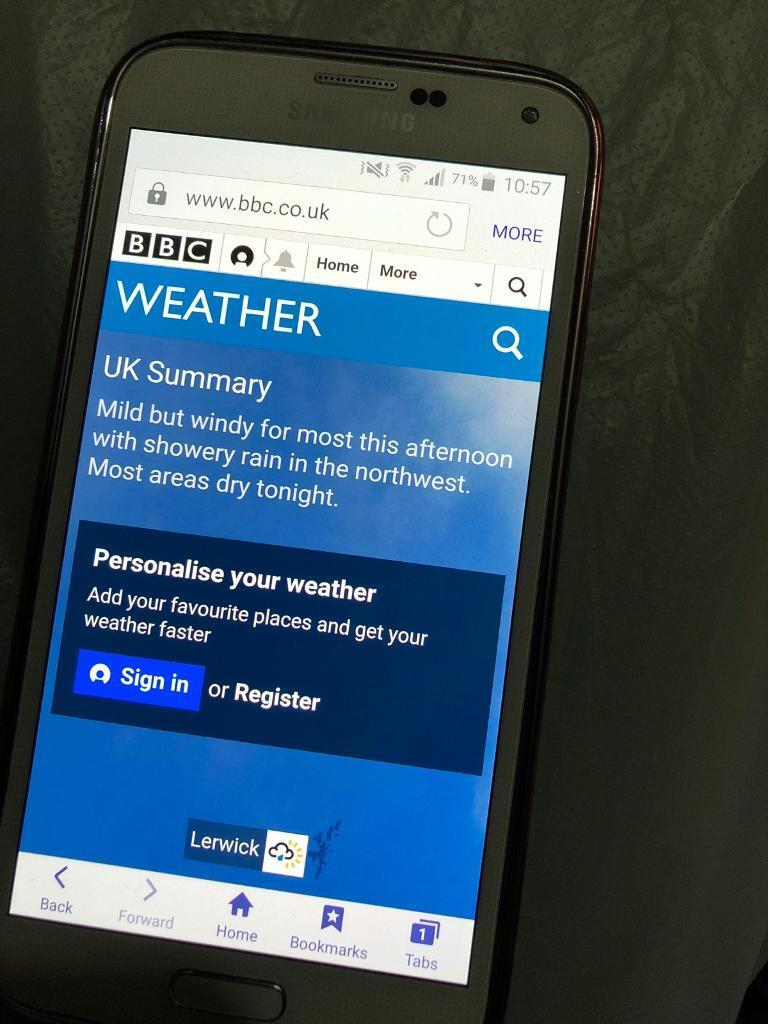 how to get weather on galaxy s5 home screen