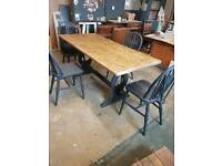 Farmhouse shabby chic table and 4 chairs