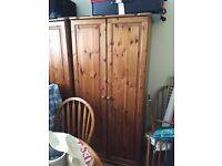 Two pine wardrobes, good condition-collect only
