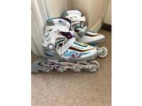 Girls inline skates size 12-3.5uk