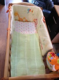 crib as new quick sale £40 from Mothercare full set toy