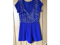 Lace and beads play suit S