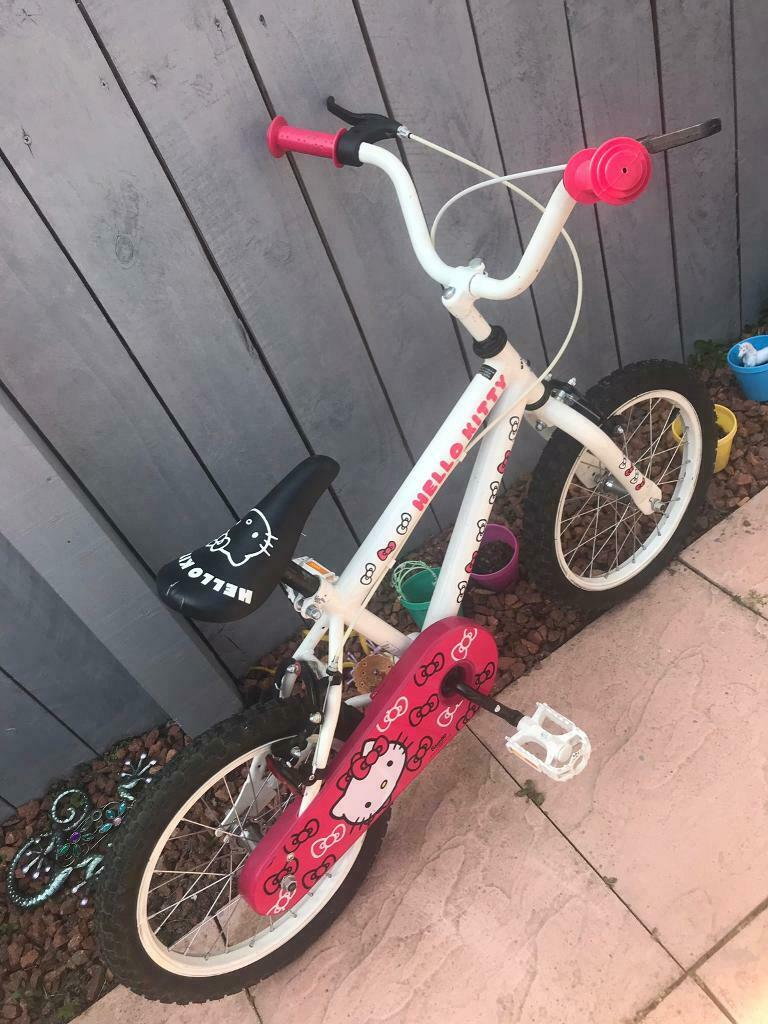 0f67af052e Girls hello kitty bike
