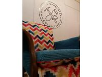 Upholstery Class at Bristol Upholstery Collective - Weekends, evenings, day times. Bring a chair