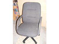 Computer / Office Chair Grey adjustable in height