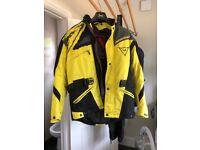 Dainese textile motorbike jacket (medium)