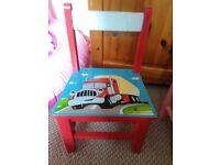 Boys wooden chair
