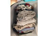 Bundle of baby boys clothing