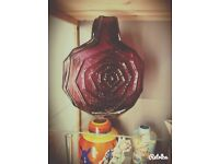 Whitefriars Aubergine Banjo Vase.