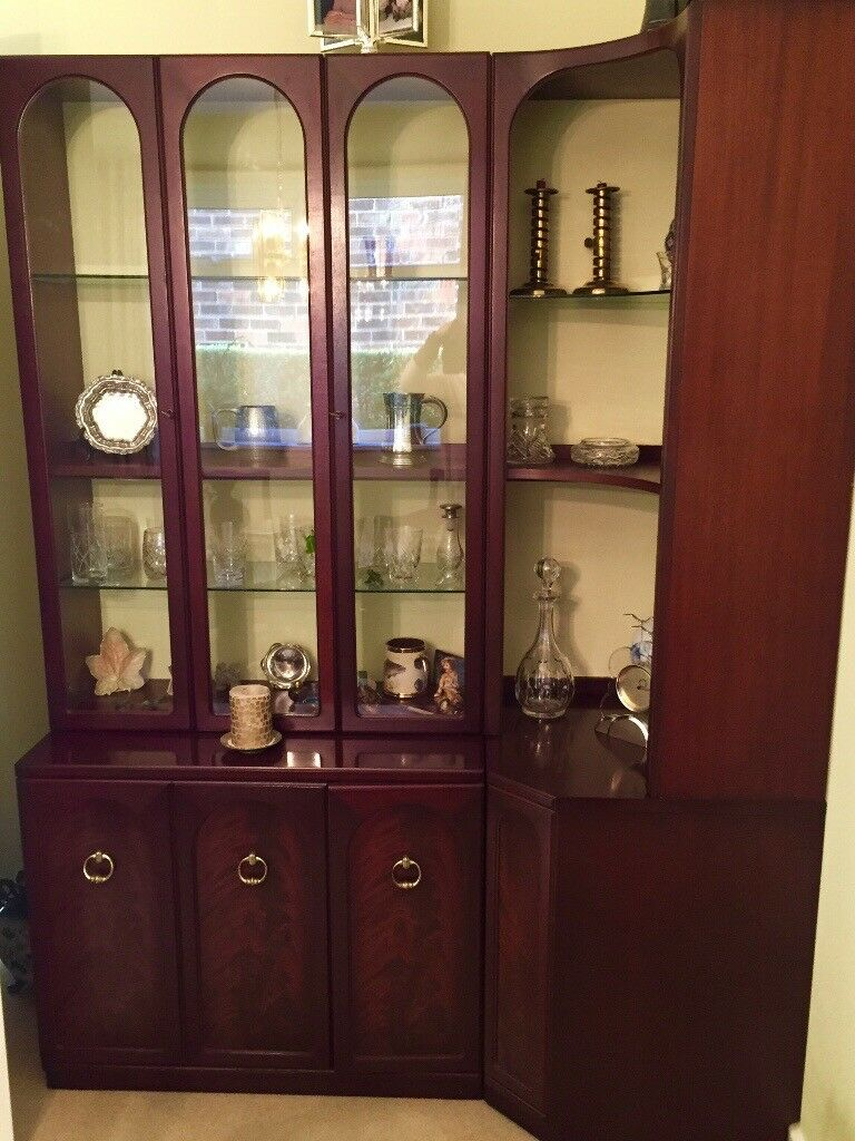 G-Plan Mahogany 'Arcadia' Illuminated Display Cabinet * REDUCED*