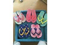 Joules and Next Girls Flip Flops
