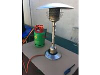 Table Top Patio Heater with Gas Bottle.